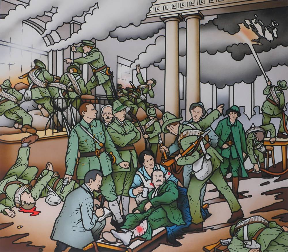 BIRTH OF THE IRISH REPUBLIC by Robert Ballagh (b.1943) at Whyte's Auctions