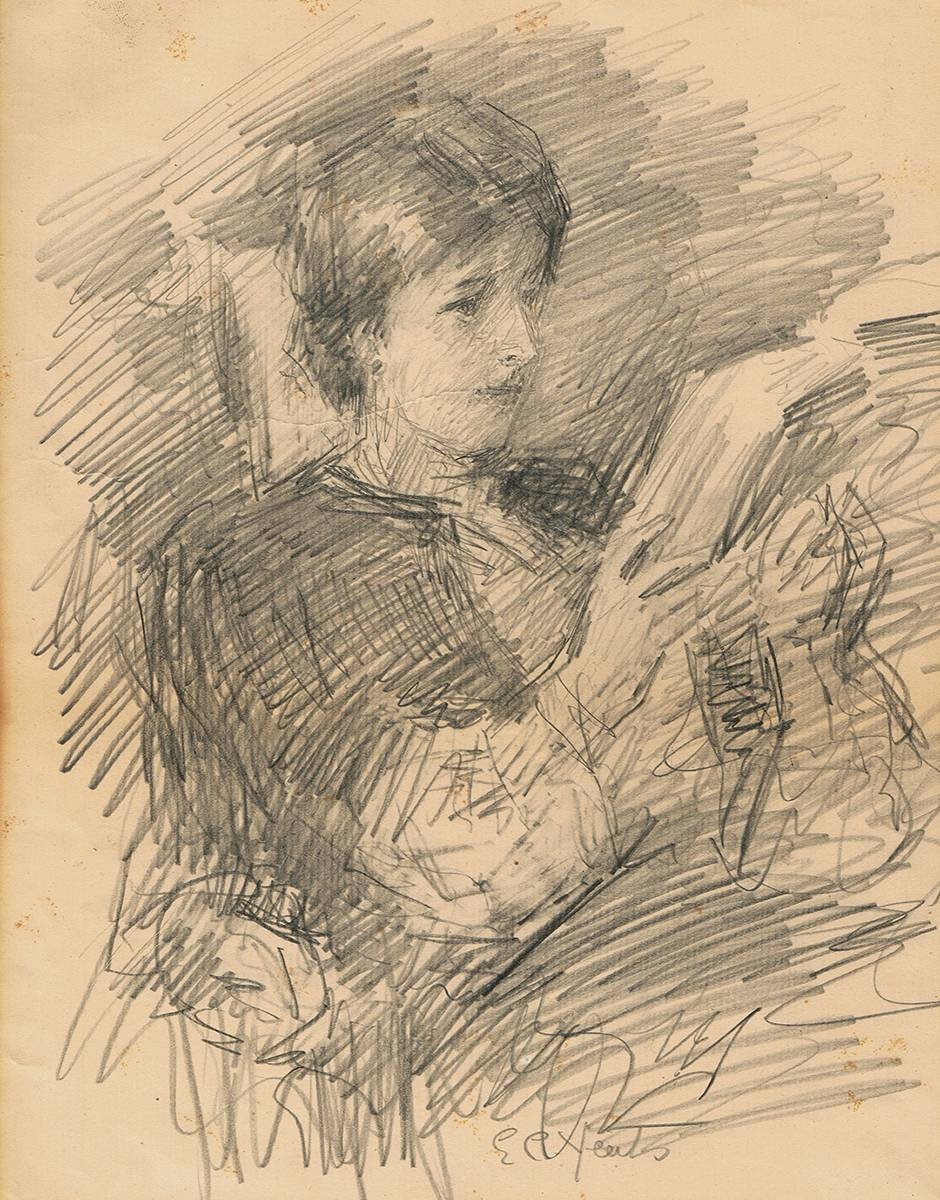 LILY RECLINING by John Butler Yeats RHA (1839-1922) at Whyte's Auctions