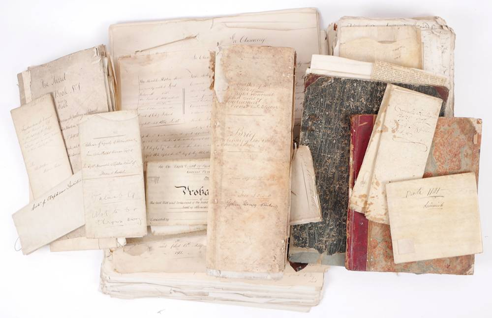 1662-1900 archive of legal documents relating to the Moores, Ponsonbys, Colvilles & connected families. at Whyte's Auctions