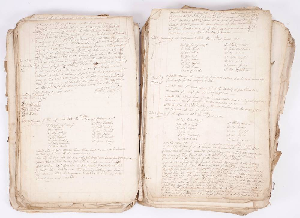 1692 - 1711 (May 30) Records of the Town Council of Clonmel, Co. Tipperary. at Whyte's Auctions