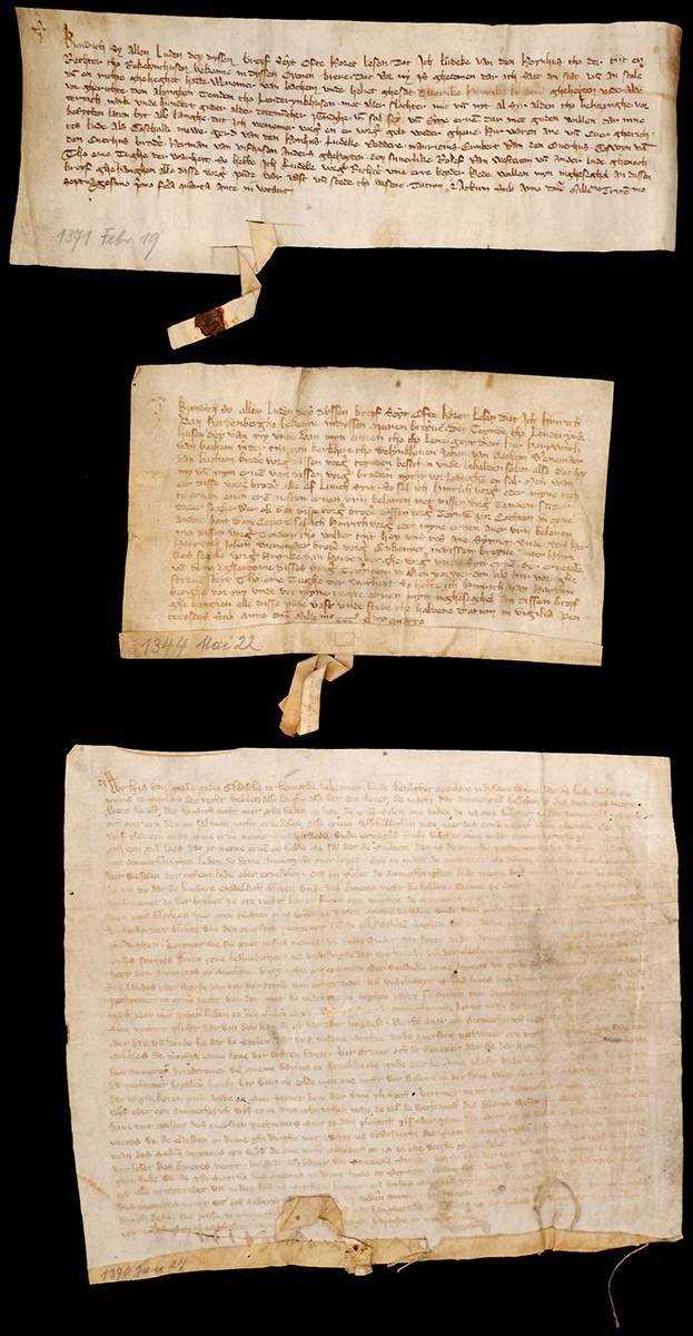1344-1390 Three medieval German ecclesiastical-legal documents. at Whyte's Auctions