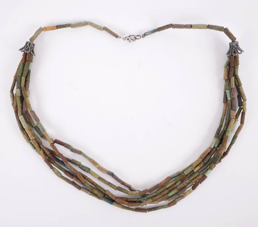 1400-200 BC Egyptian  'Mummy Necklace' : at Whyte's Auctions