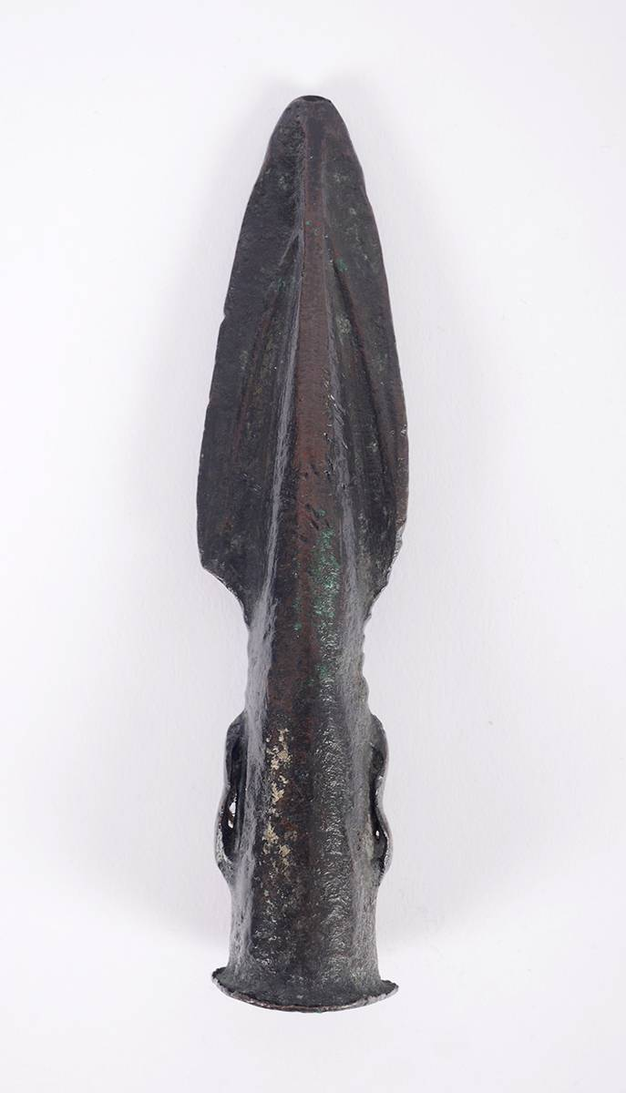 2nd Millennium BC Bronze Age Irish spearhead. at Whyte's Auctions