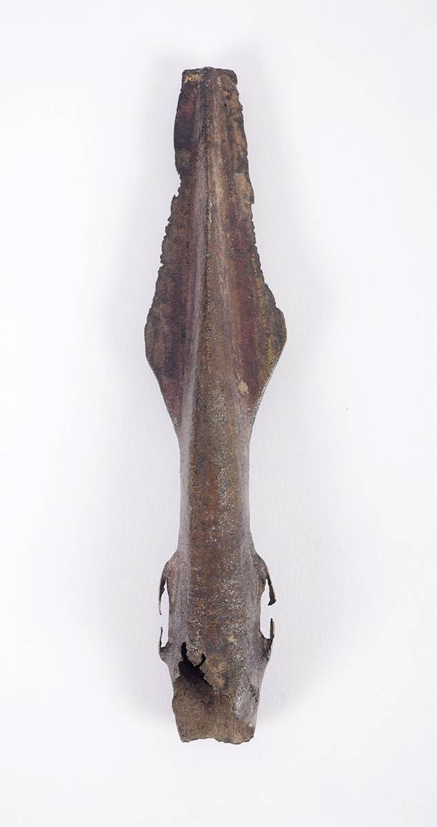 2nd Millennium BC Bronze age Irish Socketted Spearhead. at Whyte's Auctions
