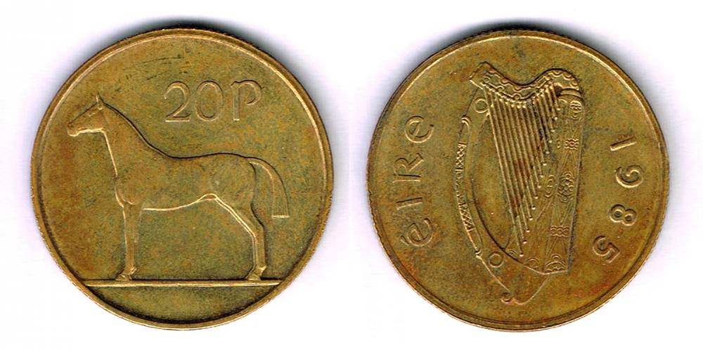 1985 twenty pence, the rare trial piece. at Whyte's Auctions