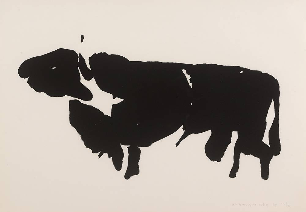 THE T�IN. THE BULL OF CUAILNGE, 1969 by Louis le Brocquy HRHA (1916-2012) at Whyte's Auctions