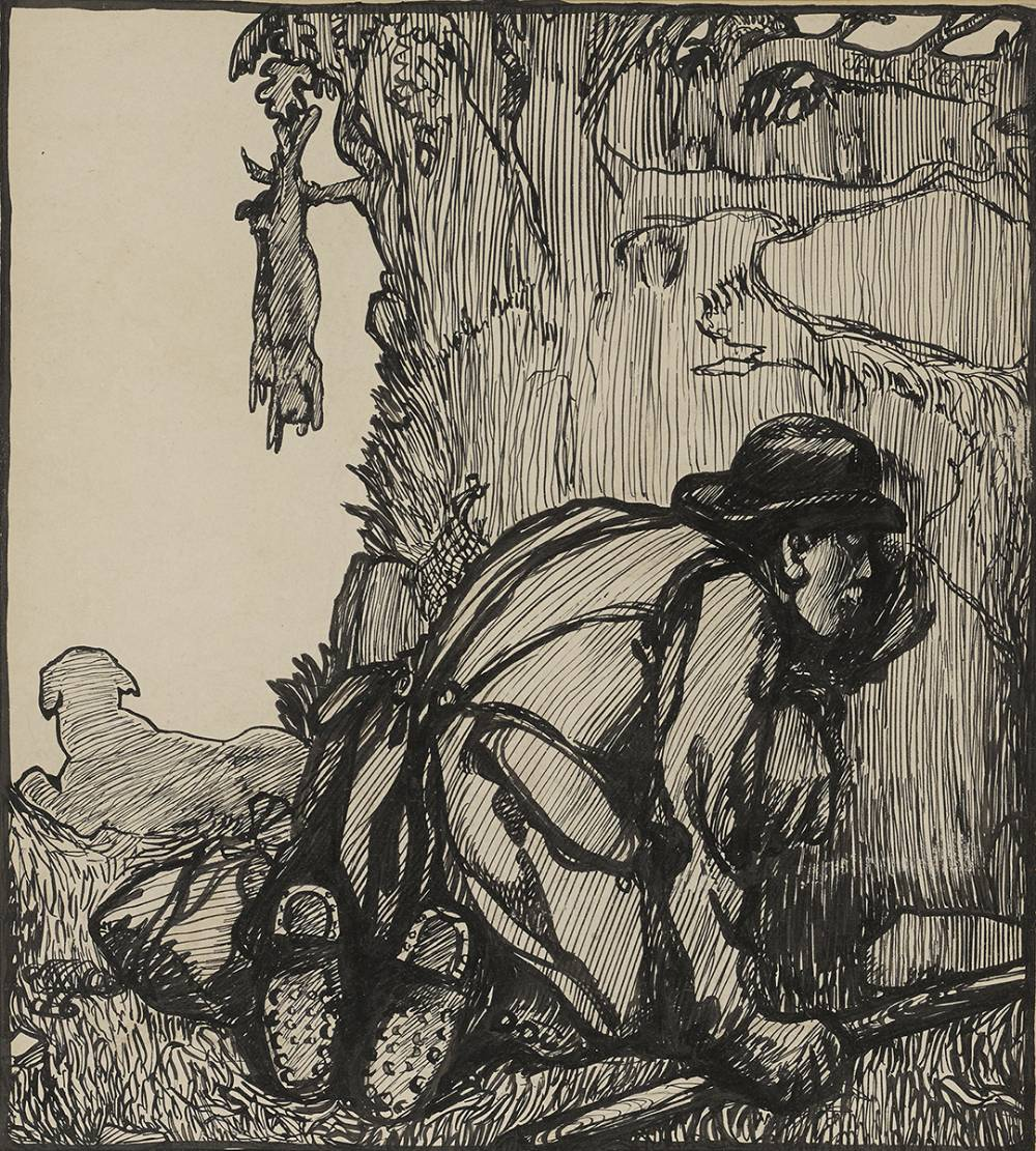 RABBITING by Jack Butler Yeats RHA (1871-1957) at Whyte's Auctions