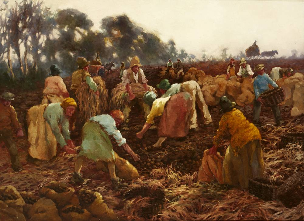 POTATO HARVEST, 1931 by Lilian Lucy Davidson ARHA (1893-1954) at Whyte's Auctions