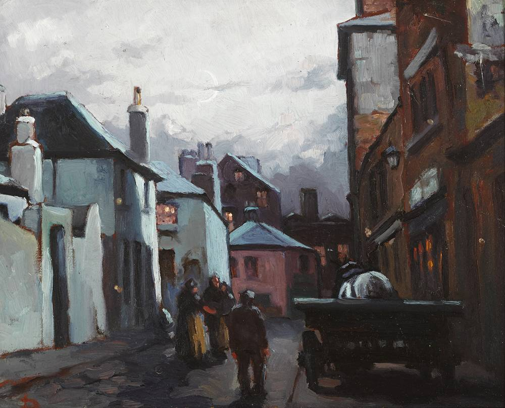 MOONLIT STREET SCENE by Lilian Lucy Davidson ARHA (1893-1954) at Whyte's Auctions