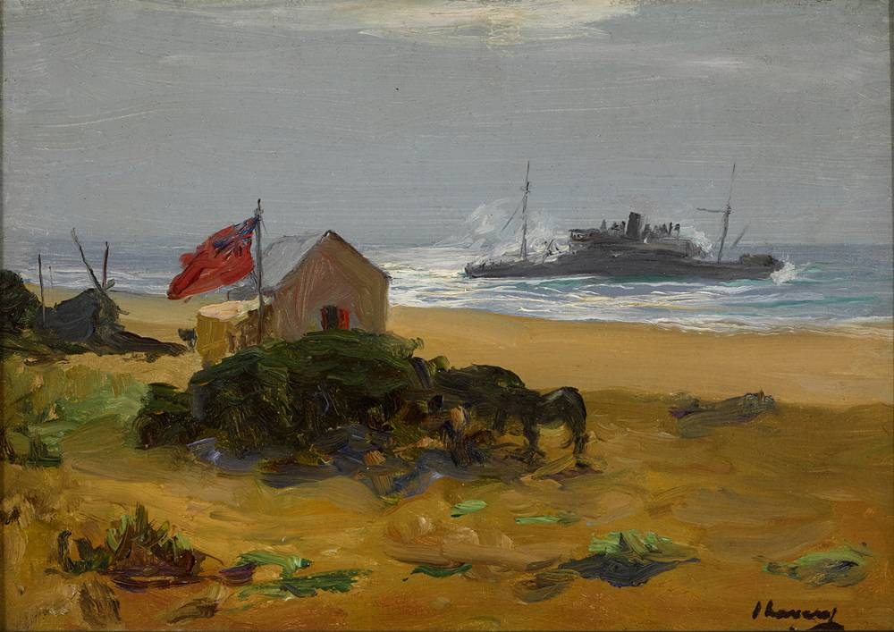 THE WRECK OF THE DELHI, SIDI CASSIM, MOROCCO, 1911 by Sir John Lavery RA RSA RHA (1856-1941) at Whyte's Auctions