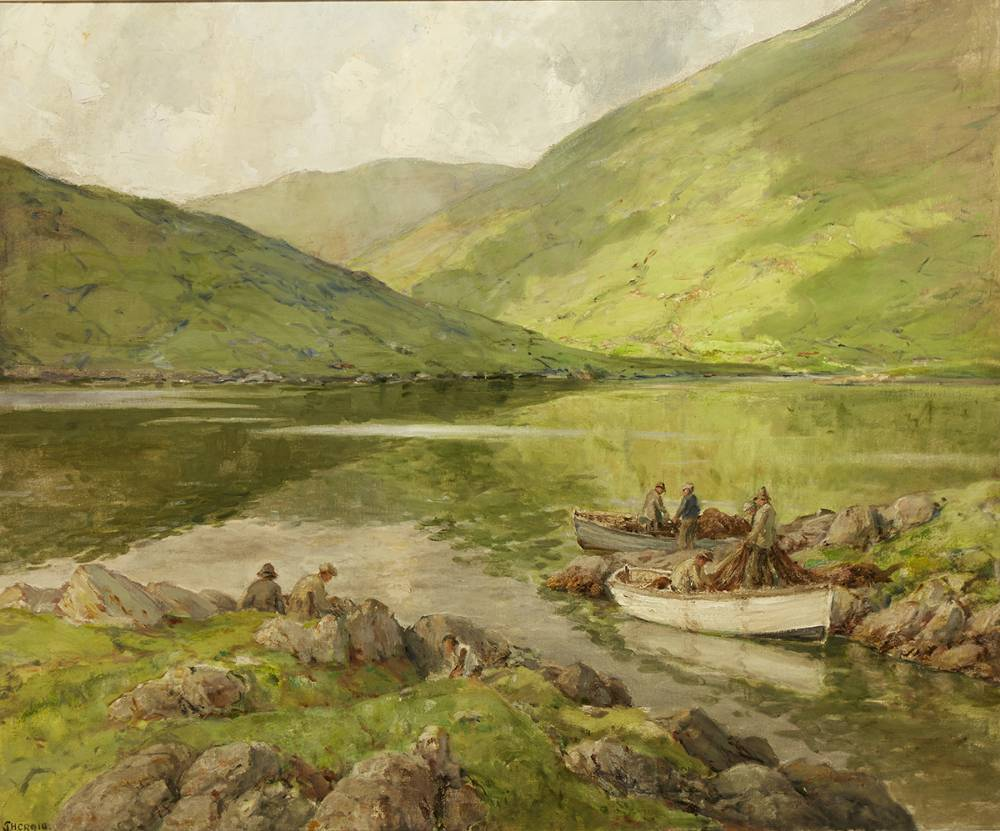 THE KILLARIES, CONNEMARA, AFTER RAIN by James Humbert Craig RHA RUA (1877-1944) at Whyte's Auctions