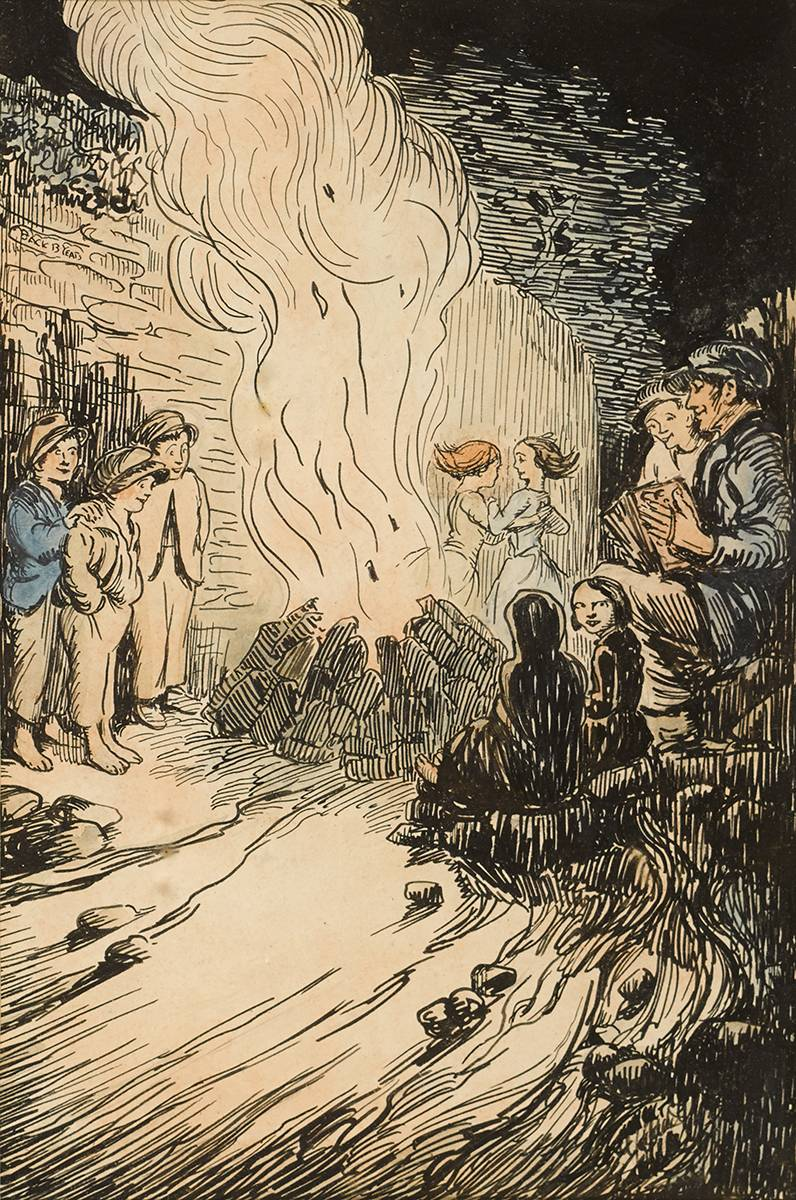 BONFIRE NIGHT [ST. JOHN'S EVE] by Jack Butler Yeats RHA (1871-1957) at Whyte's Auctions