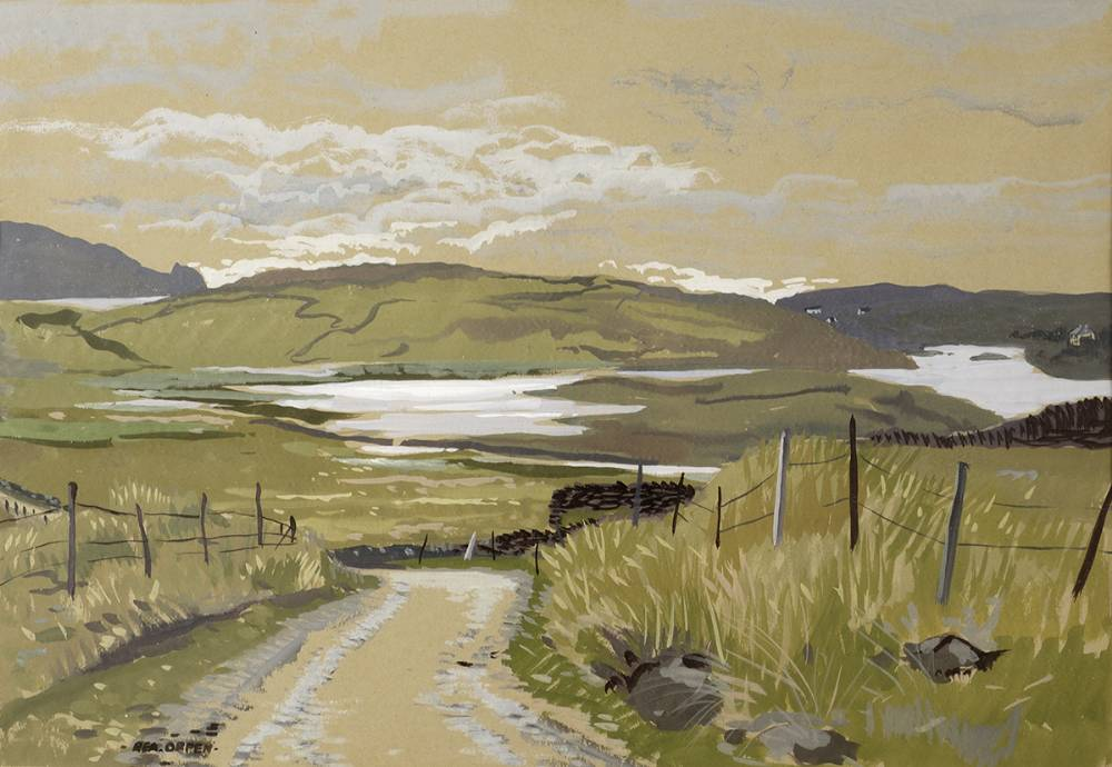 KILTOORISH LAKE, ROSBEG, COUNTY DONEGAL by Bea Orpen HRHA (1913-1980) at Whyte's Auctions
