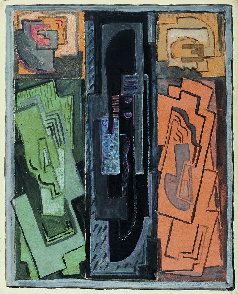 COMPOSITION (THREE PANELS) c.1945 by Evie Hone HRHA (1894-1955) HRHA (1894-1955) at Whyte's Auctions