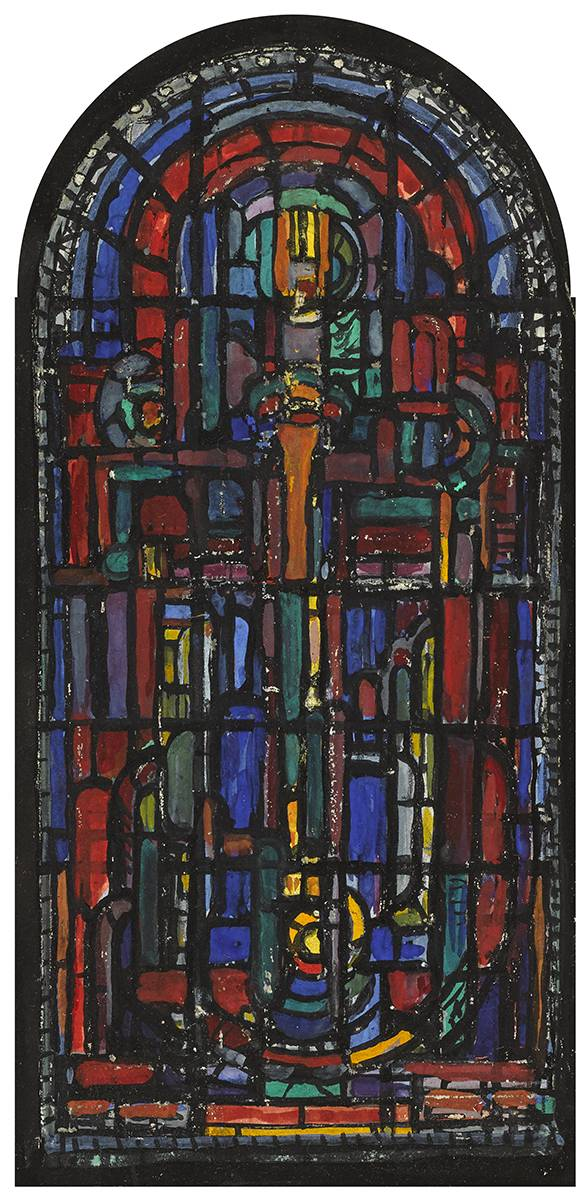 DESIGN FOR STAINED GLASS WINDOW by Evie Hone HRHA (1894-1955) at Whyte's Auctions