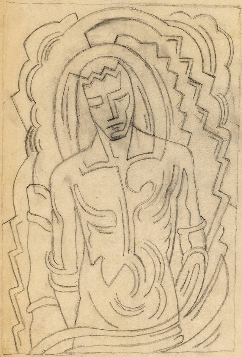 CUBIST STUDIES OF CHRIST (A PAIR) by Evie Hone HRHA (1894-1955) at Whyte's Auctions