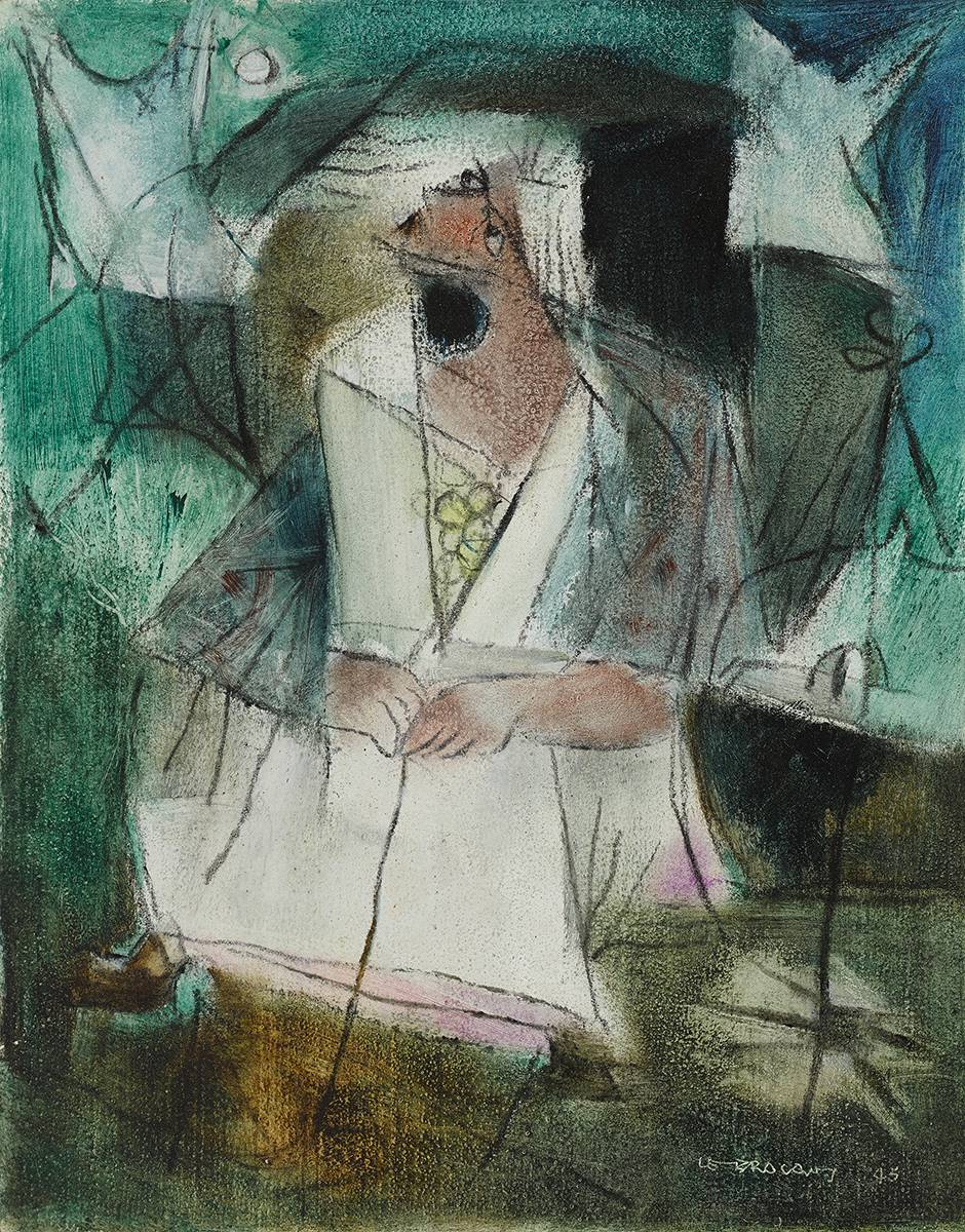 TINKER DIVINER, 1945 by Louis le Brocquy HRHA (1916-2012) HRHA (1916-2012) at Whyte's Auctions