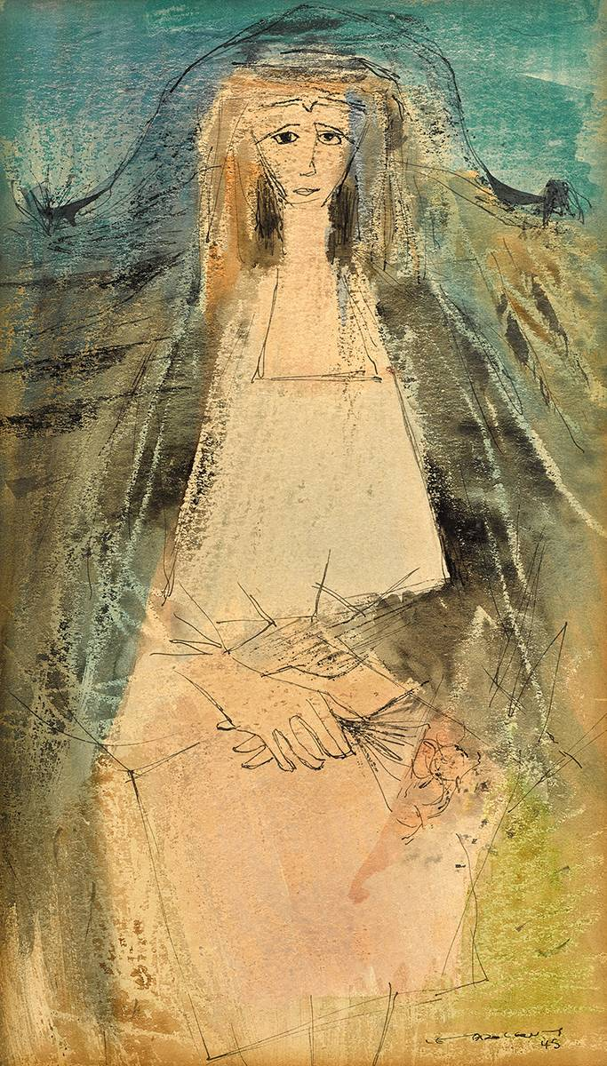 A YOUNG TINKER WOMAN, 1945 by Louis le Brocquy HRHA (1916-2012) at Whyte's Auctions