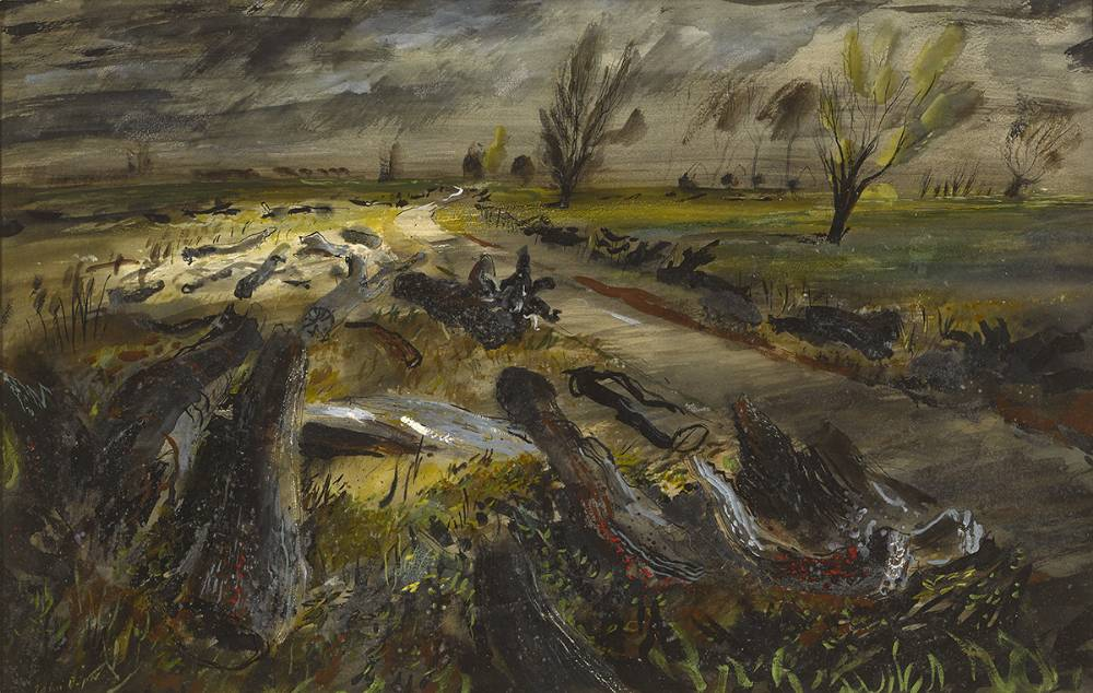 LOGS ON A FEN ROAD by John Piper CH (British 1903-1992) at Whyte's Auctions