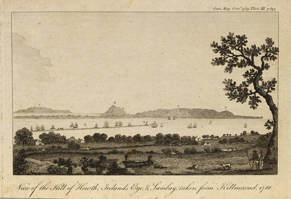 VIEW OF HILL OF HOWTH, IRELAND�S EYE AND LAMBAY, TAKEN FROM KILMACUD, 1788 at Whyte's Auctions