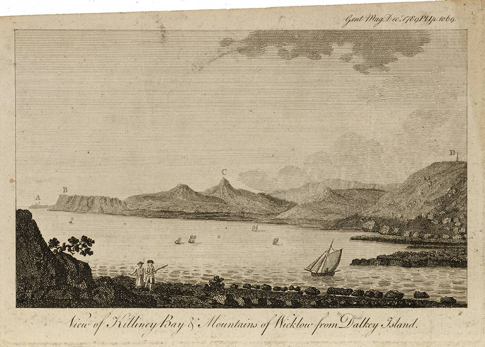 VIEW OF KILLINEY BAY AND MOUNTAINS OF WICKLOW FROM DALKEY ISLAND, 1789 at Whyte's Auctions