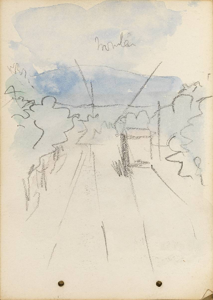 VIEW FROM A TRAM, DUBLIN, 1899 by Jack Butler Yeats RHA (1871-1957) at Whyte's Auctions