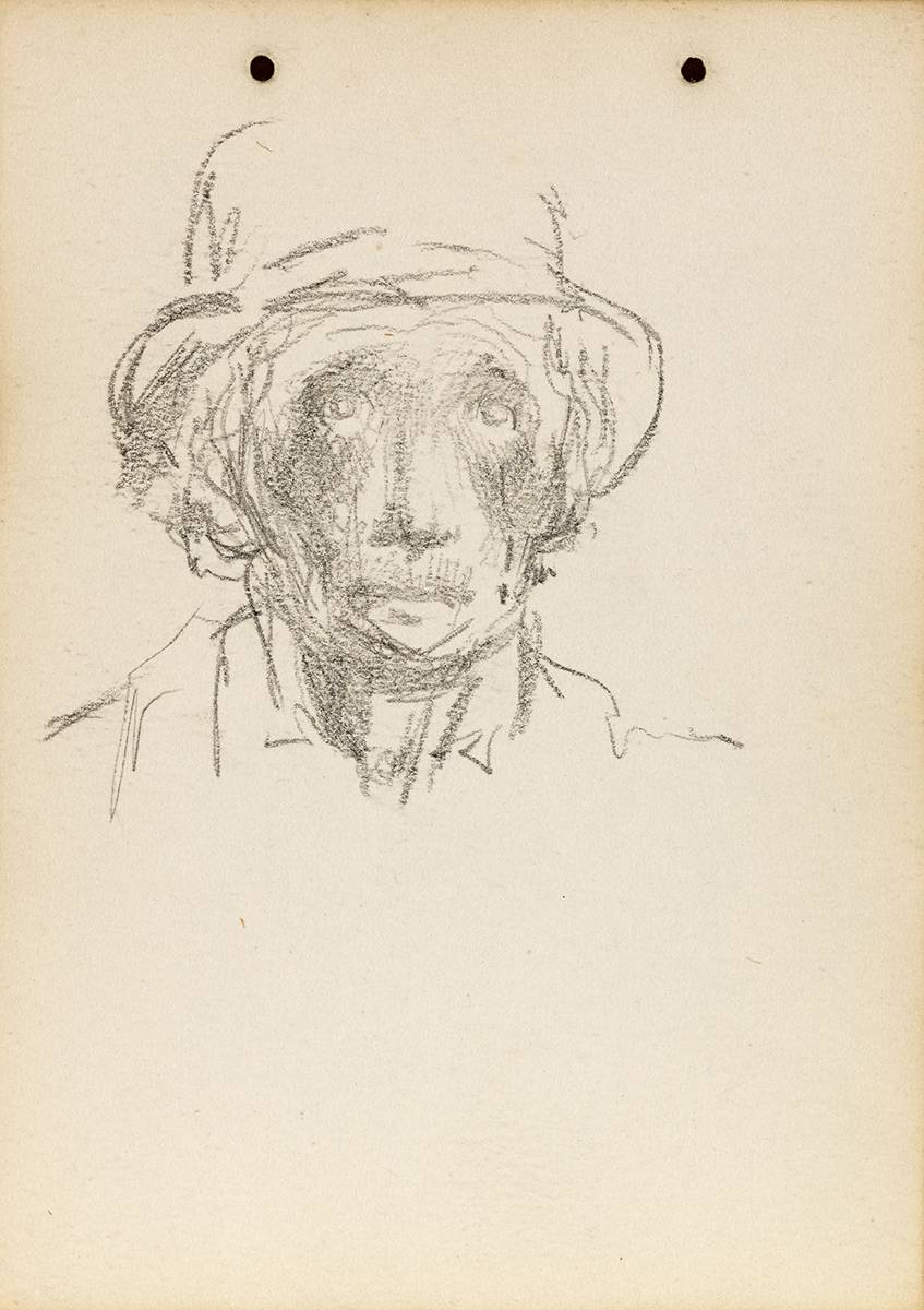SKETCH OF A MAN'S  HEAD, 1899 by Jack Butler Yeats RHA (1871-1957) at Whyte's Auctions