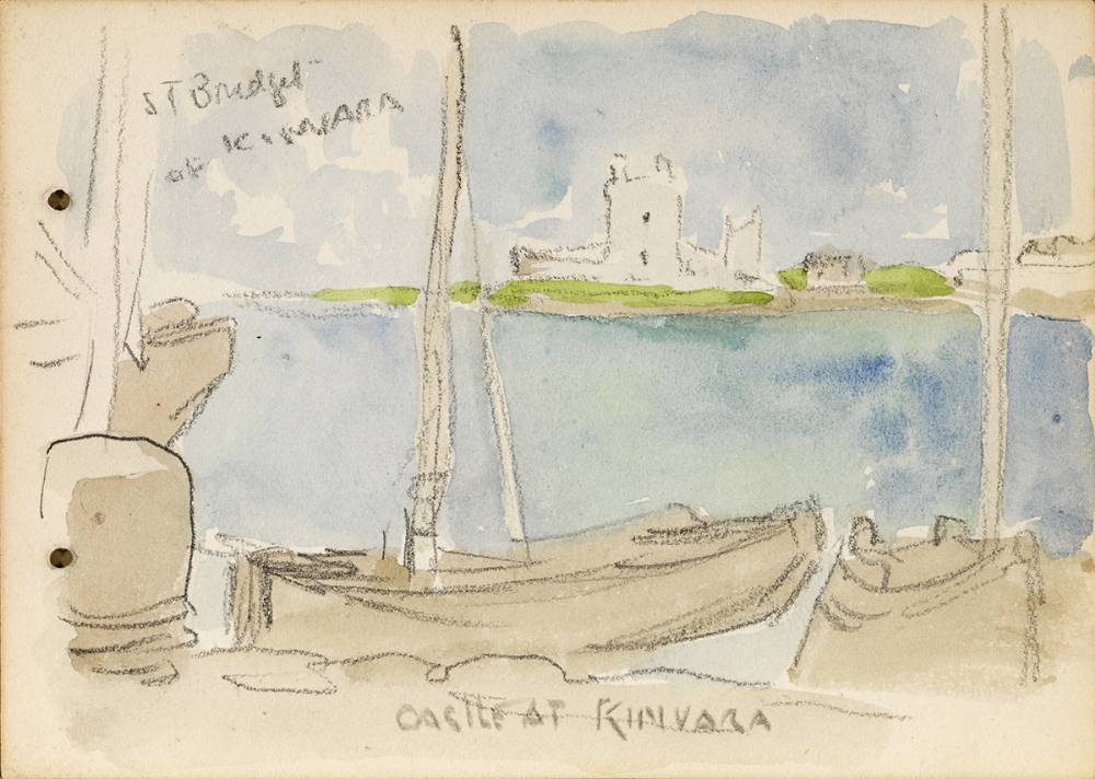 CASTLE AT KINVARA, 1899 by Jack Butler Yeats RHA (1871-1957) at Whyte's Auctions