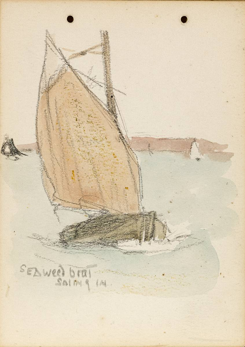 SEAWEED BOAT SAILING IN, 1899 by Jack Butler Yeats RHA (1871-1957) at Whyte's Auctions