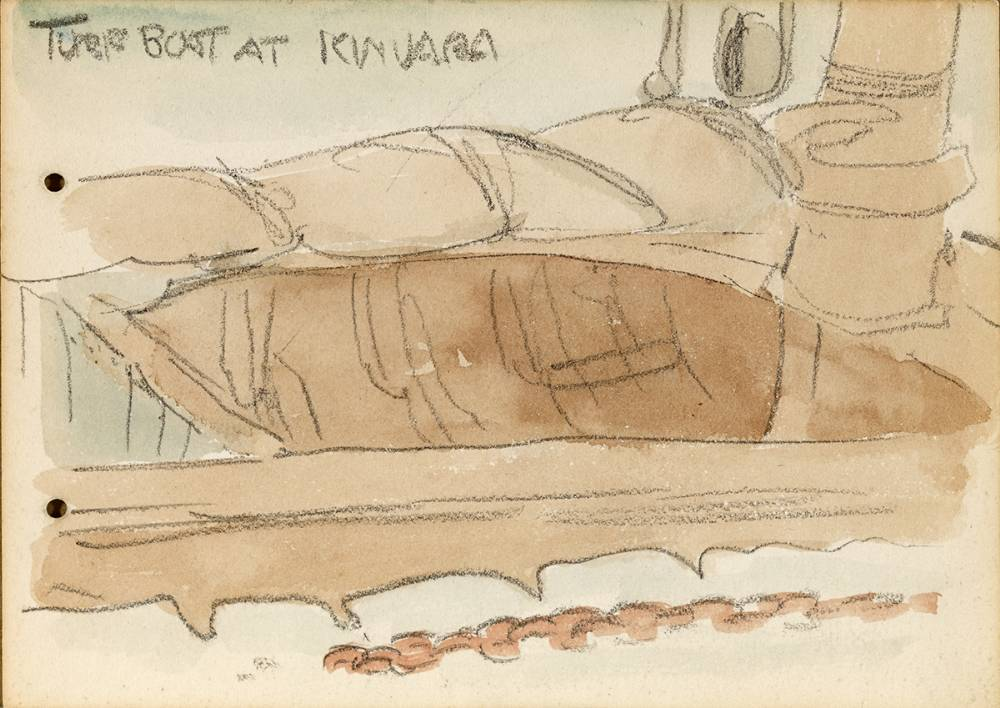 TURF BOAT AT KINVARA, 1899 by Jack Butler Yeats RHA (1871-1957) at Whyte's Auctions