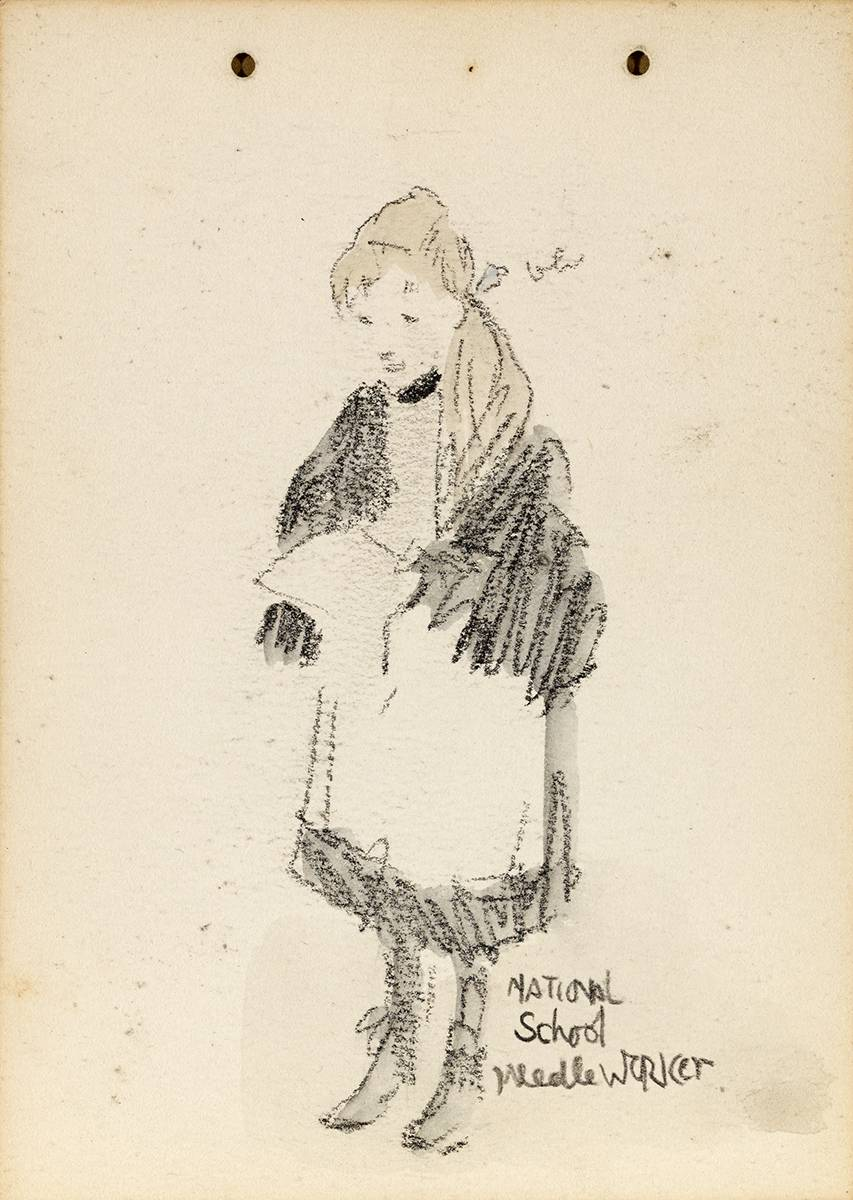 NATIONAL SCHOOL NEEDLE WORKER by Jack Butler Yeats RHA (1871-1957) at Whyte's Auctions