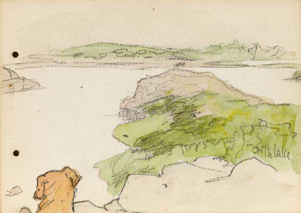 ON THE LAKE, 1899 by Jack Butler Yeats RHA (1871-1957) RHA (1871-1957) at Whyte's Auctions