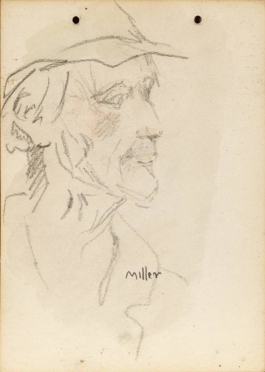 SKETCH OF 'MILLER', 1899 by Jack Butler Yeats RHA (1871-1957) at Whyte's Auctions