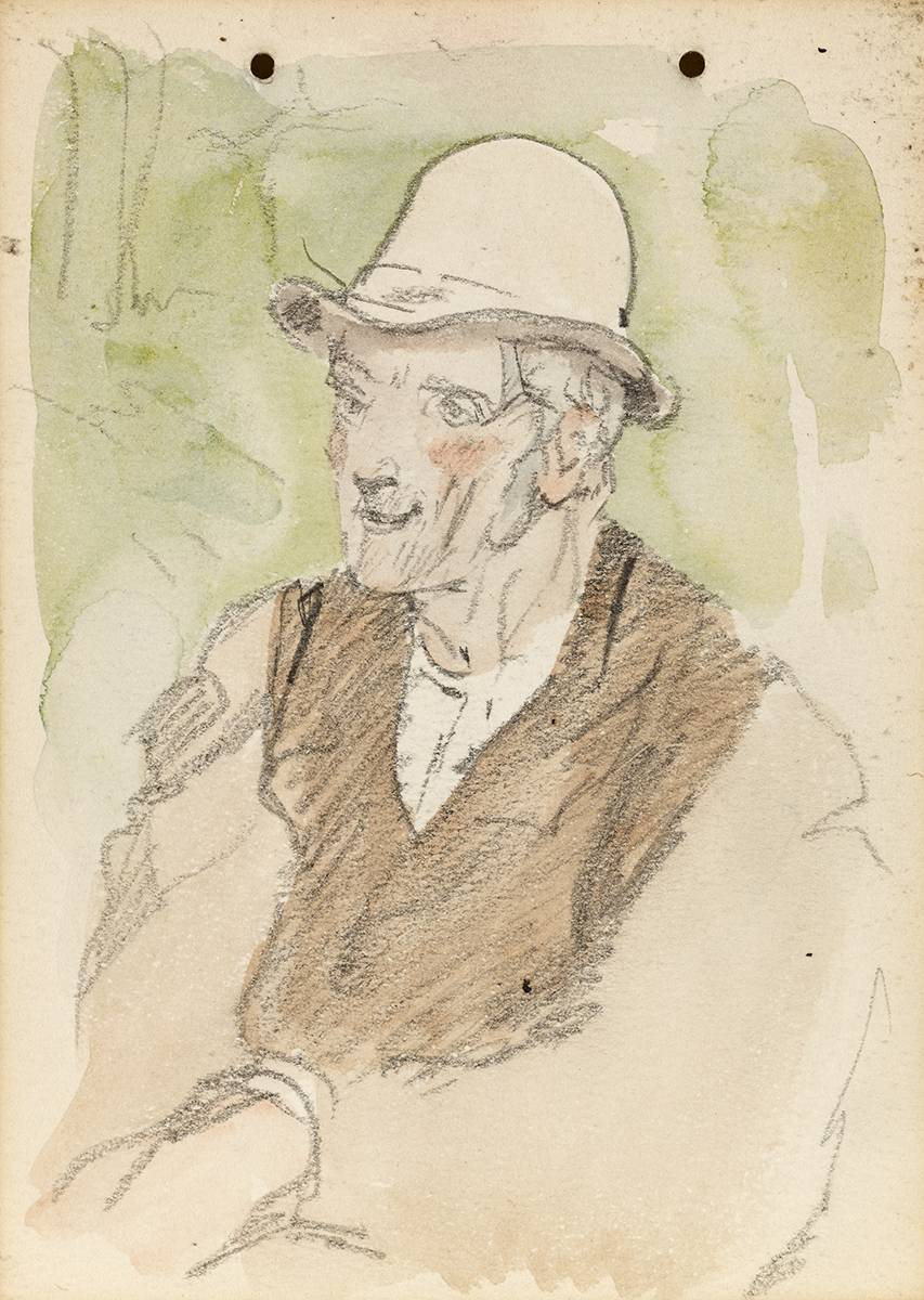 MAN IN HAT AND WAISTCOAT, 1899 by Jack Butler Yeats RHA (1871-1957) at Whyte's Auctions