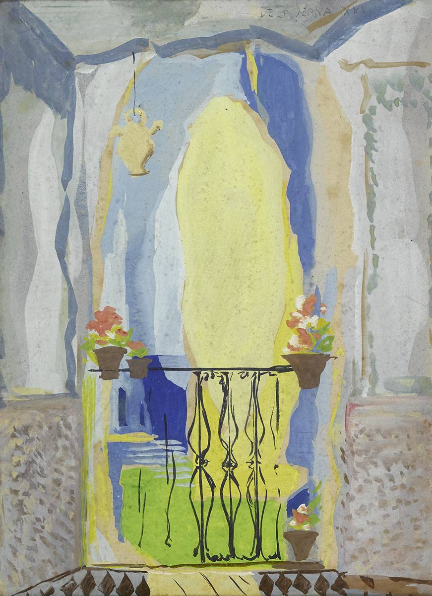 VIEW FROM A WINDOW OF A TERRACE, 1933 by Ismael Gonzalez De La Serna (Spanish, 1898-1968) at Whyte's Auctions