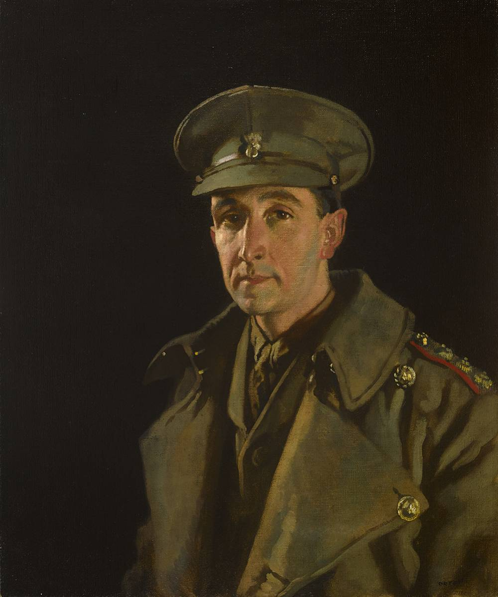 CAPTAIN ROBERT JOHN WOODS OF THE ROYAL INNISKILLING FUSILIERS, 1919 by Sir William Orpen sold for €34,000 at Whyte's Auctions