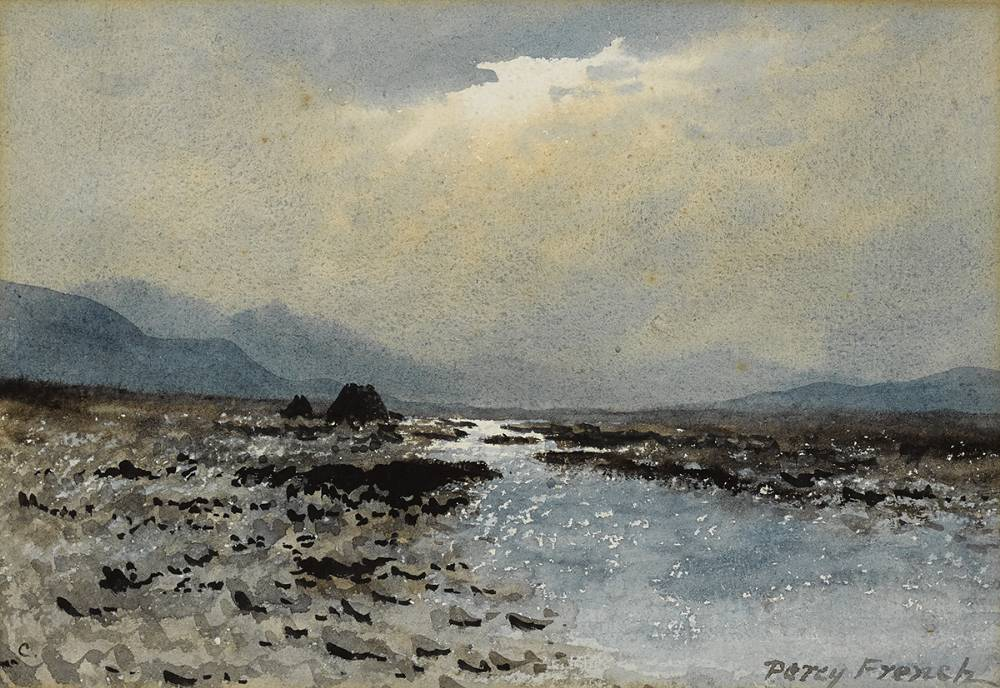 BOG RIVER AND BREAKING CLOUDS by William Percy French (1854-1920) at Whyte's Auctions