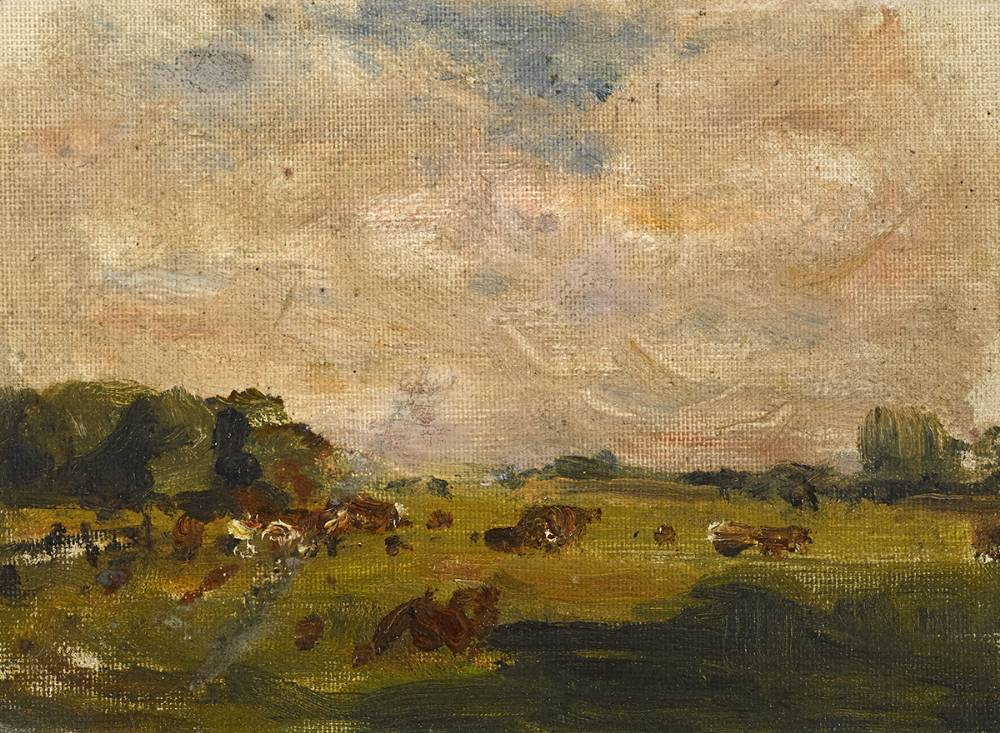 CATTLE IN A LANDSCAPE by Nathaniel Hone RHA (1831-1917) at Whyte's Auctions