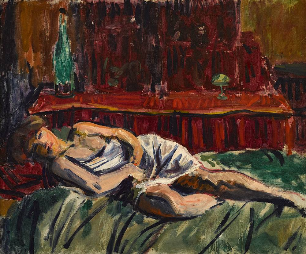RECLINING WOMAN, c.1910 by Roderic O'Conor sold for �15,000 at Whyte's Auctions