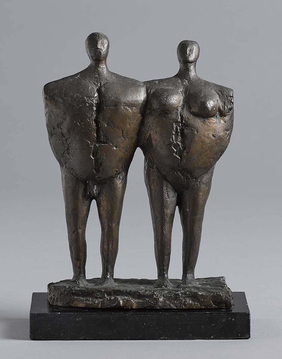 MAN AND WOMAN, 1972 by John Behan RHA (b.1938) at Whyte's Auctions