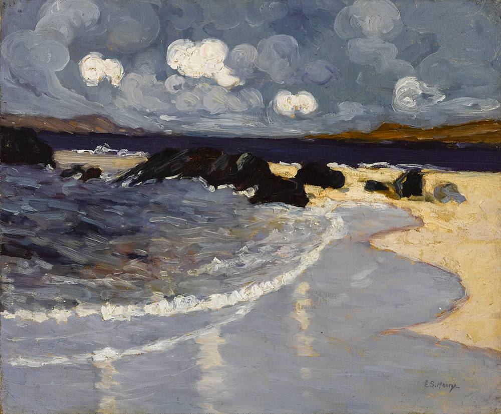 LITTLE WAVES, ACHILL, 1915-19 by Grace Henry HRHA (1868-1953) at Whyte's Auctions