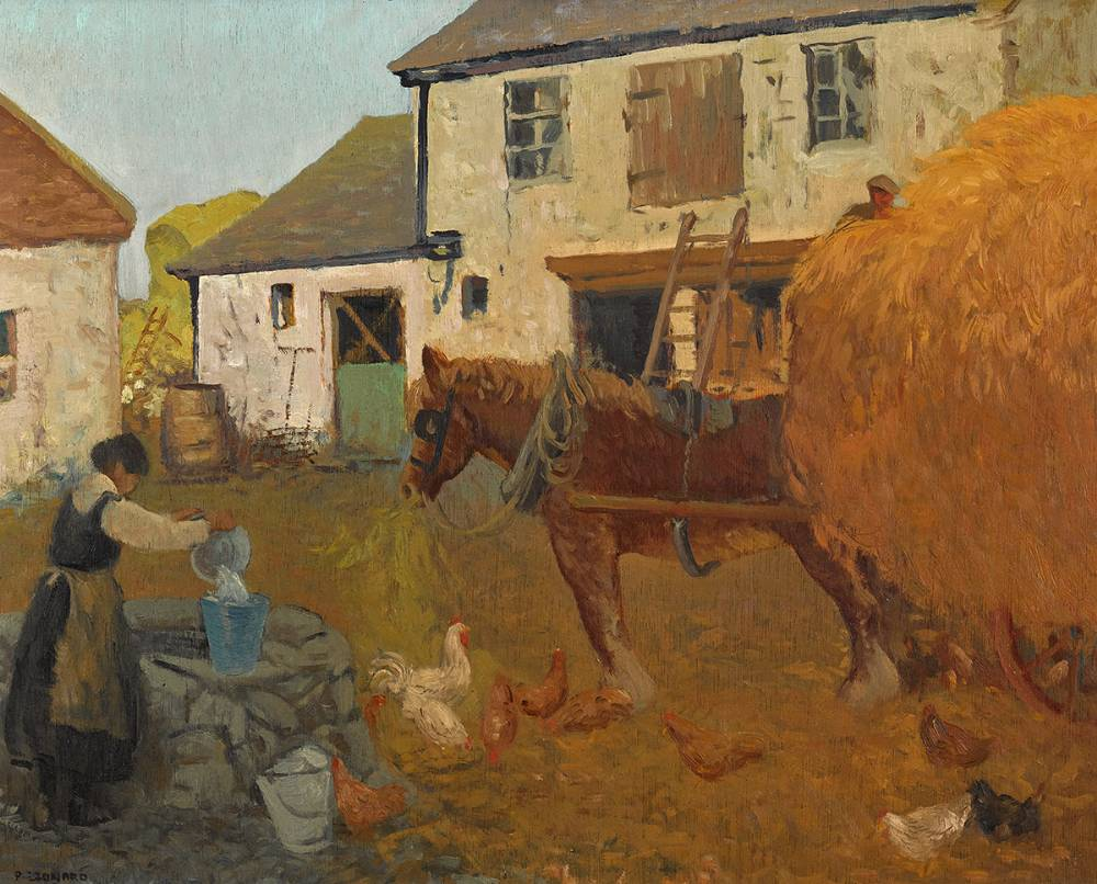 HARFORD'S YARD, RUSH by Patrick Leonard HRHA (1918-2005) at Whyte's Auctions