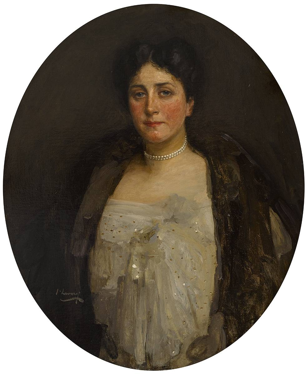 PORTRAIT OF A LADY by Sir John Lavery RA RSA RHA (1856-1941) at Whyte's Auctions