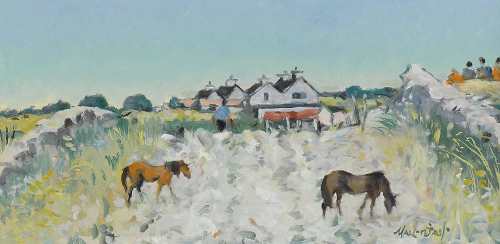 SUMMER MORNING, KILRANE, WEXFORD, 1977 by Maurice MacGonigal PPRHA HRA HRSA (1900-1979) at Whyte's Auctions