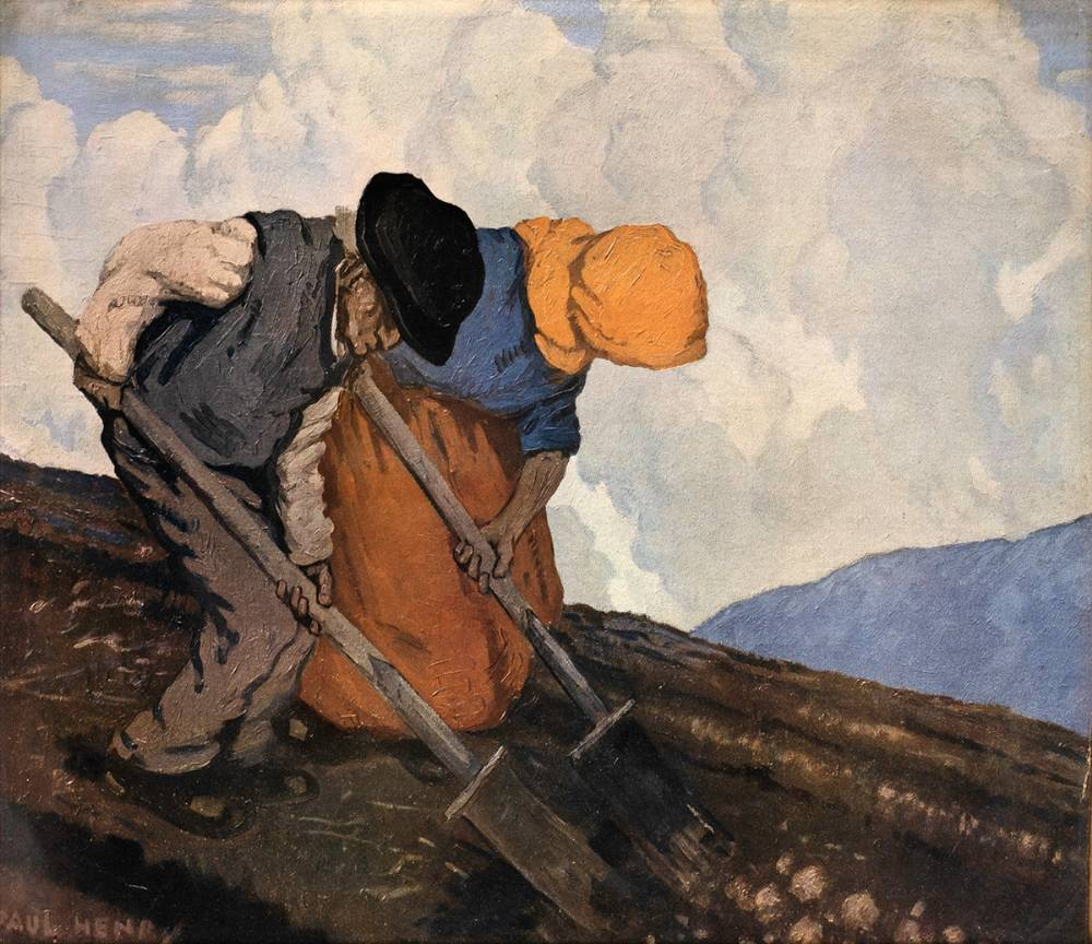 THE POTATO DIGGERS by Paul Henry RHA (1876-1958) at Whyte's Auctions
