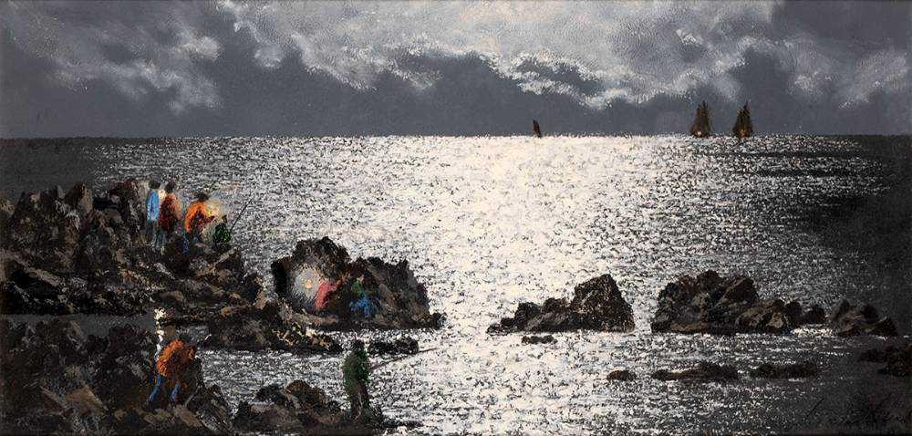 NIGHT FISHING, TENERIFE by Ciar�n Clear (1920-2000) at Whyte's Auctions