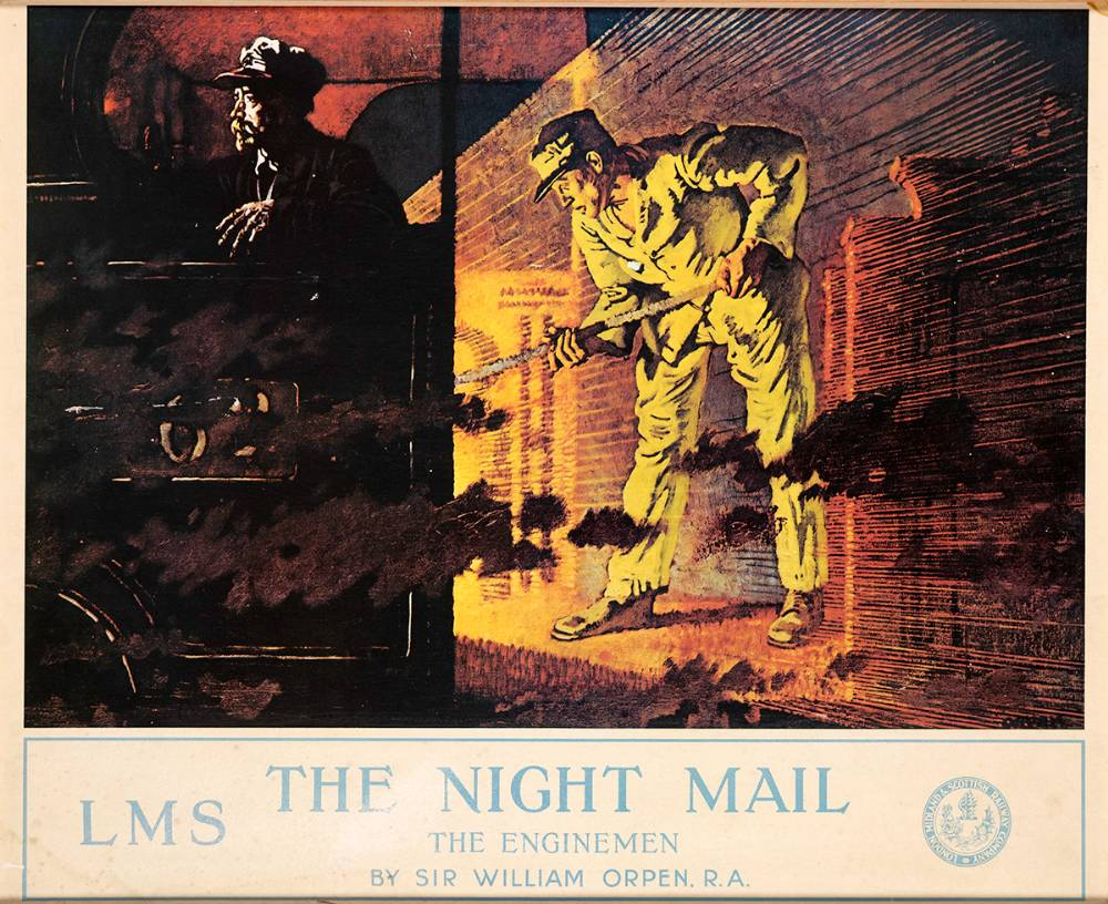 THE NIGHT MAIL, THE ENGINEMEN, 1924 by Sir William Orpen KBE RA RI RHA (1878-1931) KBE RA RI RHA (1878-1931) at Whyte's Auctions