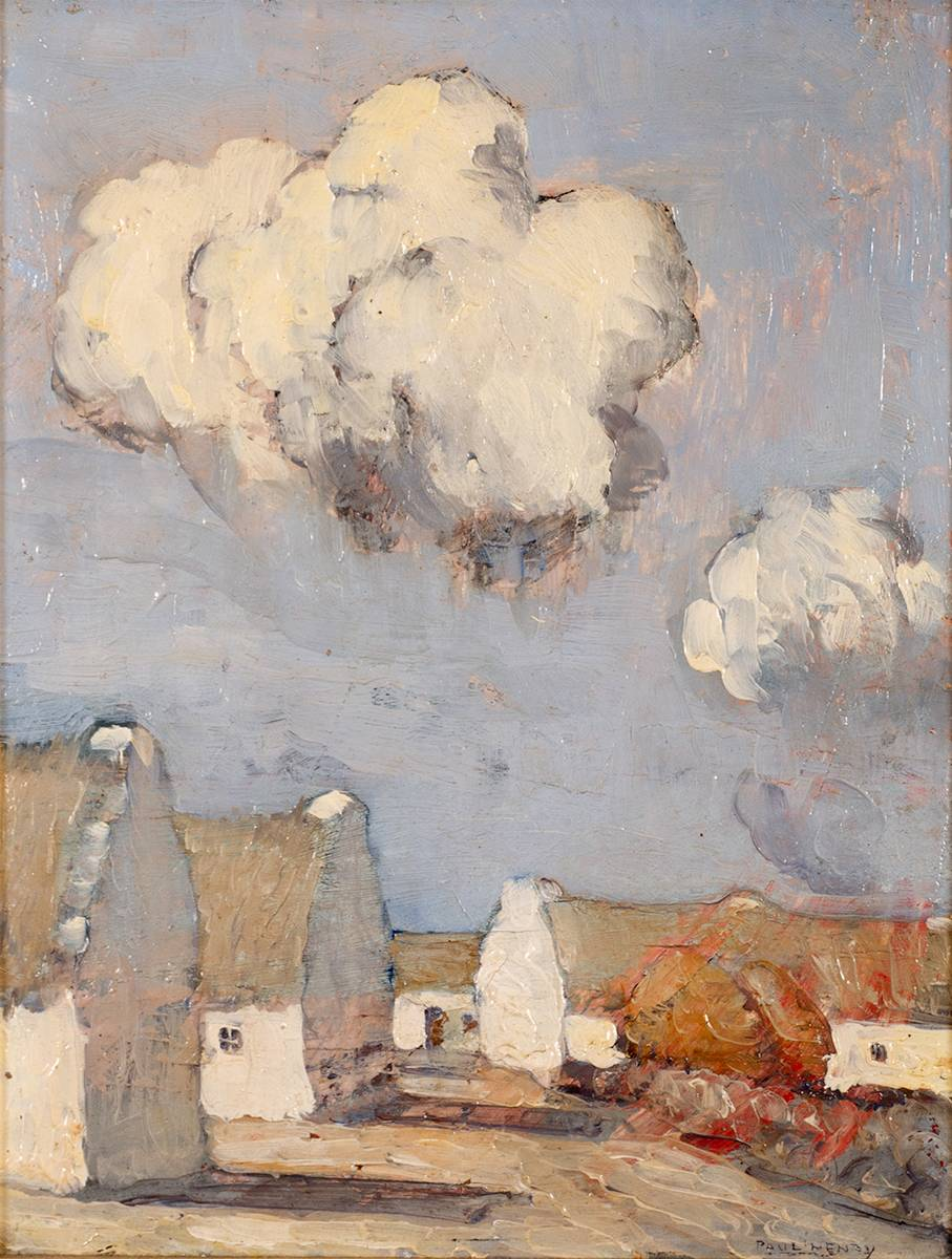 CLADDAGH VILLAGE, 1928 by Paul Henry RHA (1876-1958) RHA (1876-1958) at Whyte's Auctions