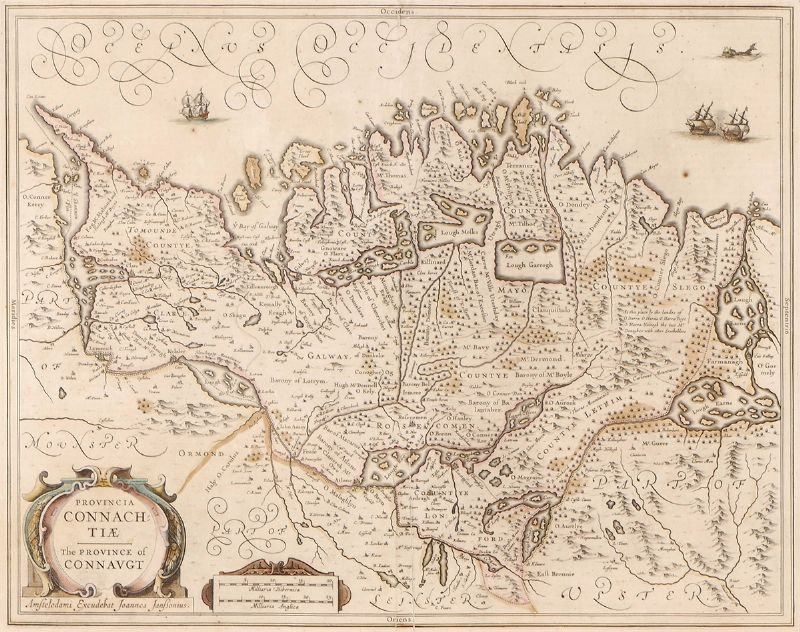1646 Map of Connaught, by Joannes Jansson. at Whyte's Auctions