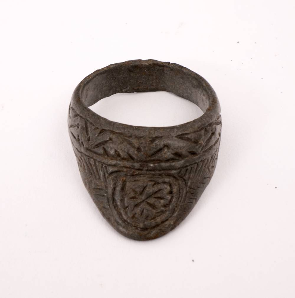 Circa 400-600AD a bronze archer's ring. at Whyte's Auctions